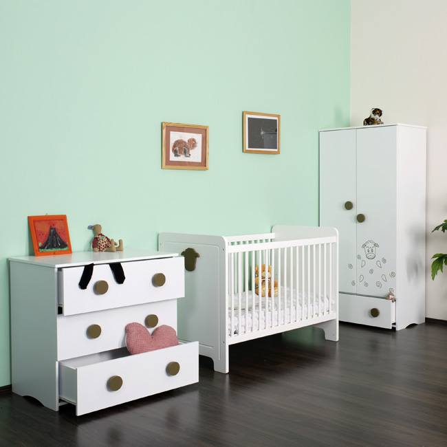 babyzimmer komplett baby m bel kinder bett ohne bettkasten. Black Bedroom Furniture Sets. Home Design Ideas